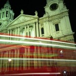 St Pauls Cathedral red bus