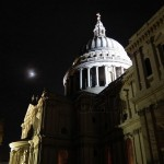 St Pauls and moon