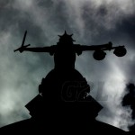 The Old Bailey Scales of Justice Silhouette
