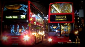 Christmas, Illuminated Buses