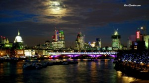 Christmas, Waterloo Bridge view