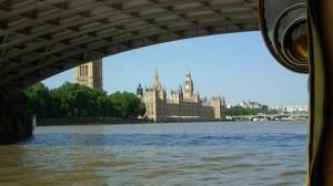 Duck Tours under Lambeth Bridge