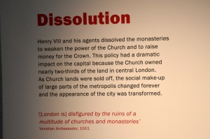 Museum of London Dissolution