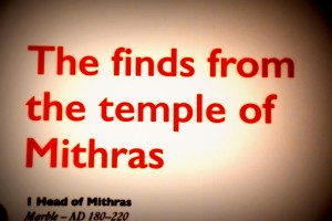 Museum of London mithras 2