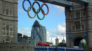 Olympic rings tower bridge gherkin