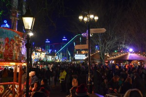 Winter Wonderland, busy crowds