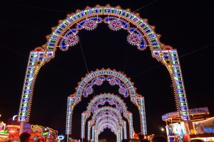 Winter Wonderland, light tunnel