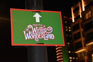 Winter Wonderland, road sign