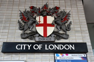 City of London sign London Wall