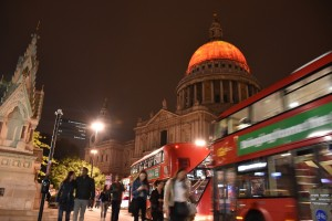 London's Burning St.Paul's orange