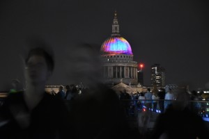 London's Burning St.Paul's orangeblue
