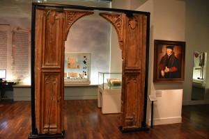 Museum of London wooden doorway