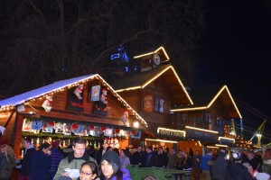 Winter Wonderland, alpine lodge